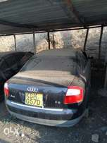Audi A 4 with damaged front part