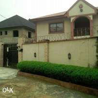 A well maintain 2-bedroom flat at the ground in a private estate ketu