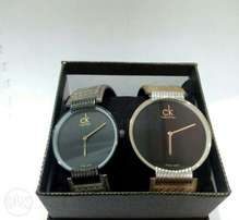 CK unisex leather watches