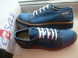 Ersax новые мужские джинсовые туфли мокасины 40 aa2650d270400
