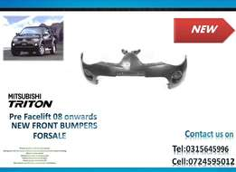 Mitsubishi triton 2008 ONWARDS New Front bumpers for sale price R1650-