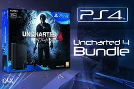 Brand new PlayStation (PS) 4 with uncharted 4 game CD inside