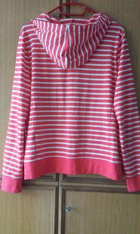 9fc82262f43c5d Rozpinana bluza z kapturem, koralowa w białe paski, Yessica XL Katowice -  image 2