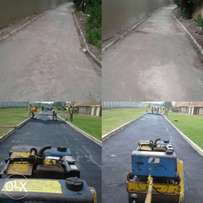 Tar surface drive ways