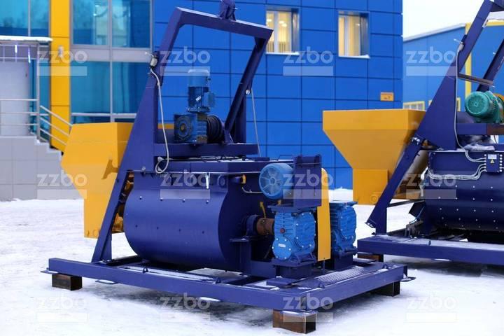 ZZBO Twin-shaft Concrete Mixer, Skip Bp-2g-750s / Бп-2г - 2019