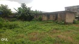 A Full Plot of Land with Uncompleted 3Bedroom Set-back with C of O