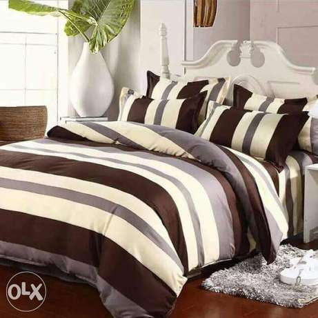 Warm cotton duvets with one matching bedsheet and 2 pillowcases Kitengela - image 6