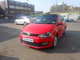 2012 vw polo 6 1.4 comfort line hatchback sunroof R165000 red 63000km