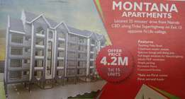 2 bed roomed apartments for sale- Thika super highway. NIBS college