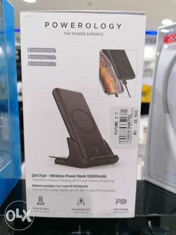 Powerology wireless charger and power bank