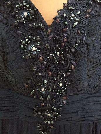 163cb5a621 Granatowa elegancka długa suknia balowa Wrocław Krzyki • OLX.pl