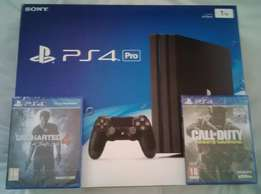 PS4 Pro + Call of duty infinite warfare + Uncharted 4