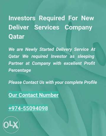 Investors Required For Newly Started Delivery Service Company At Qatar