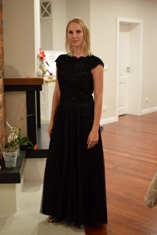 8fbf5188ed Długa suknia wieczorowa MOLTON sukienka na wesele sylwestra r. 40   M  Zielona Góra -