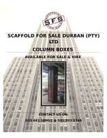 New Steel Column Boxes- Scaffold For Sale Durban