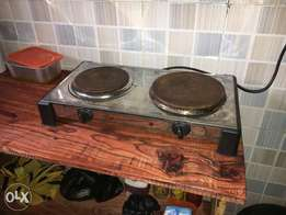 2 Plates Electric Cooker - low voltage usage (Rust free)