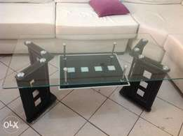 Stylish Glass-top Coffee Table