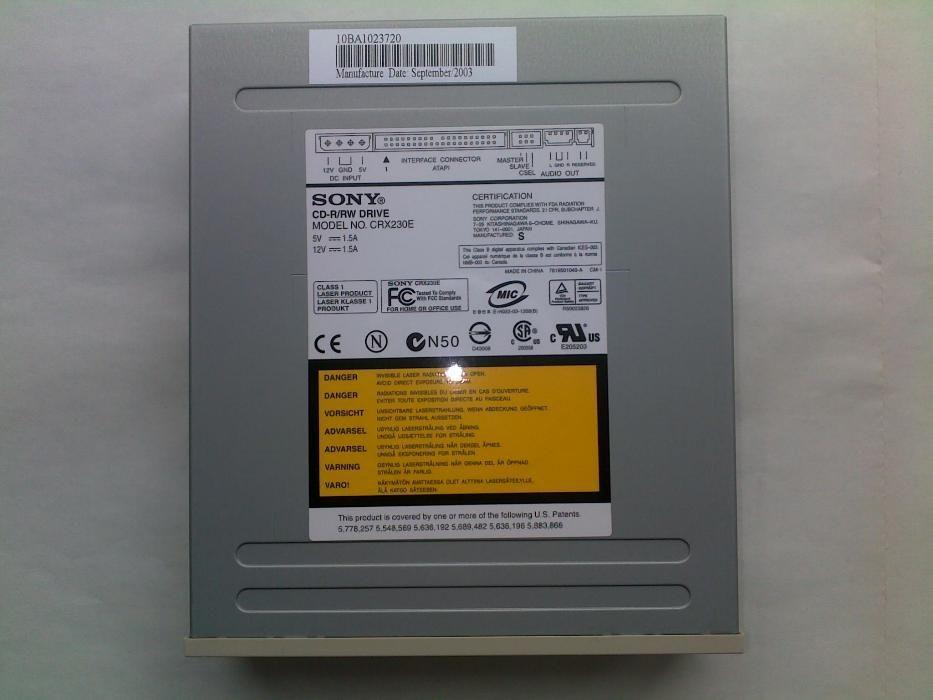 SONY CD-RW CRX230E DESCARGAR DRIVER