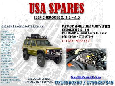 Jeep 4.0 Engine For Sale >> Jeep Cherokee Xj 2 5 4 0 Engines And Engine Parts For Sale Usa Spares