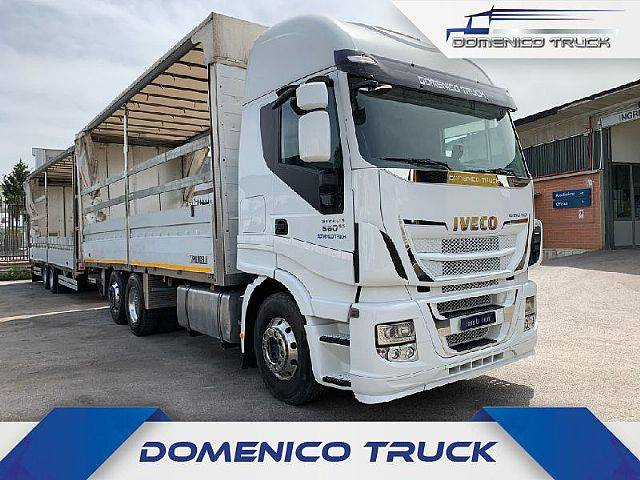 Iveco Stralis 560 hi-way 7,34mt Manuale-Int+Biga 8,16 mt - 2013