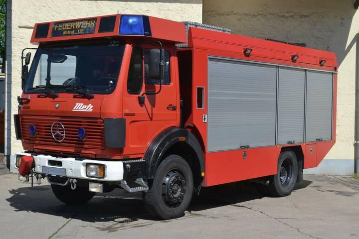 Mercedes-Benz 1222AF Rüstwagen 4x4 Allrad Seilwinde Feuerwehr - 1990
