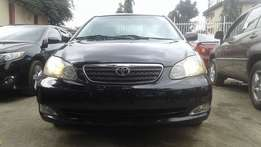 Extra clean foreign used Black Toyota Corolla 2006 model