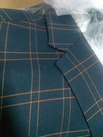 Navy Blue Checked suits for men. Smoothly polished wool. FREE DELIVERY Nairobi CBD - image 6