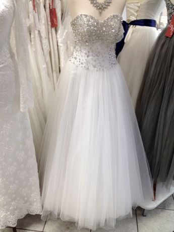Suknia ślubna Princessa Księżniczka Tiulowa Kryształki Swarovski 36