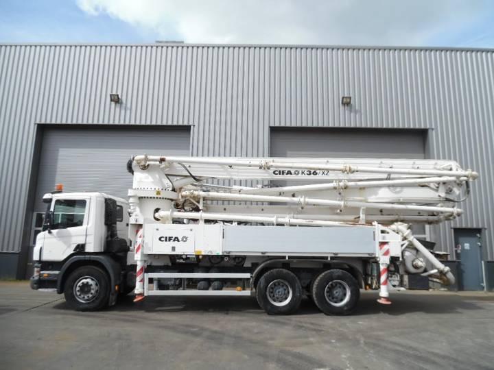Scania P380 6x4 CIFA 36 Mtr concrete pump 632 hours only! - 2010