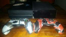 XBox One with remotes & games