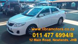 2012 Toyota Corolla 1.6 Professional For Sale!