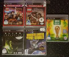 5 X PS3 GAMES ( brand new sealed ) NEVER USED R200 each or R800 for