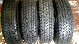 205R16 Good year wrangler A/T used tyres (4) 90% thread for sale.