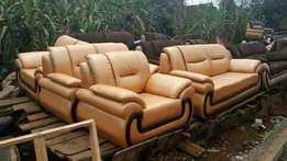 Cream leather Seat 5seater