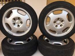 Fairly Used Benz Rim Size 16 With Tyres