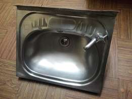 Stainless steal basin with tap.