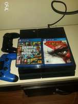 Playstation 4 (ps4) for sale with gta v, fifa16 and god of war 3
