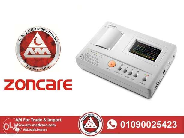 Zoncare 3 Channels ECG رسم قلب زونكير 3 قناة