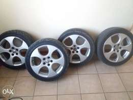 """Eoms polo Gti 16"""" rims and tyres"""