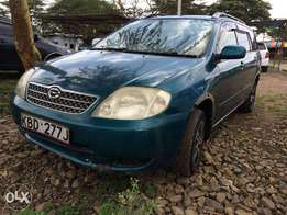 TOYOTA FIELDER:well maintaned accident free and fully loaded