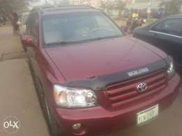 Few months used toyota highlander 2006 buy n travel tincan cleared