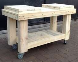 Butchers Block Farmhouse series 1150 Mobile 2 humps - Raw
