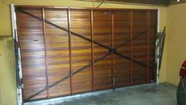 Meranti Double Garage Door