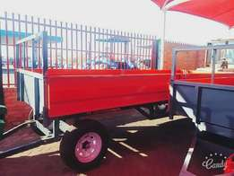 Farm trailers 2 ton trailer with drop sides