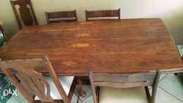 Dining room table and chairs genuine wood