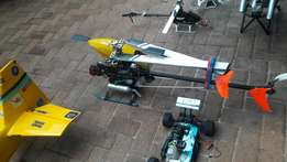 Rc planes cars hellis accesories 10 radios lots of toys.