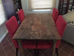 Antique distressed oak dining table