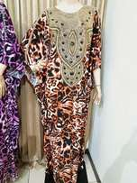 Brown beaded gown/kaftan