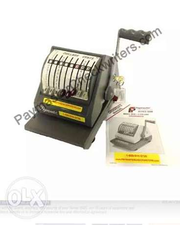 Office paymaster Checkwriters machine Moudi - image 1