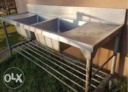 Stainless steel double bowl sinc
